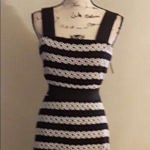 ASOS WOMEN'S EYELET DRESS. COLOR: BLACK/WHITE
